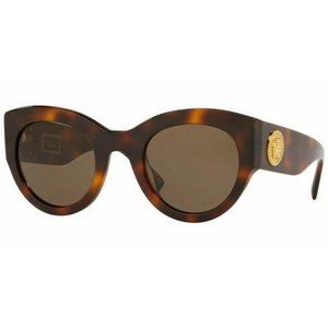 Versace Cat Eye Style Brown Lens